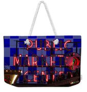 Public Market Checkerboard Weekender Tote Bag