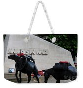 Public Memorial Honoring Military Animals In War London England Weekender Tote Bag
