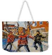 Puck Control Hockey Kids Created By Prankearts Weekender Tote Bag
