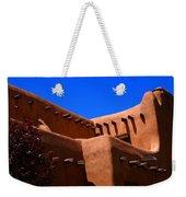 Pueblo Revival Style Architecture In Santa Fe Weekender Tote Bag