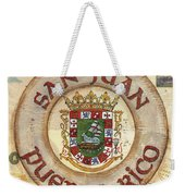 Puerto Rico Coat Of Arms Weekender Tote Bag by Debbie DeWitt