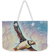 Puffin During Sunrise Weekender Tote Bag