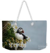 Puffin On Latrabjarg Cliff Weekender Tote Bag