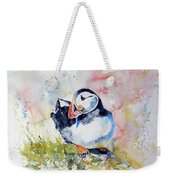 Puffin On Stone Weekender Tote Bag
