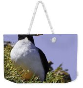 Puffin On The Rock Weekender Tote Bag