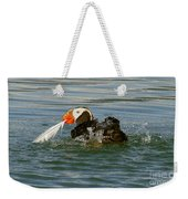 Puffin With A Prize Weekender Tote Bag