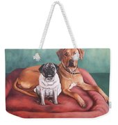 Pug And Rhodesian Ridgeback Weekender Tote Bag