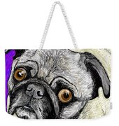 Olivia The Pug Weekender Tote Bag