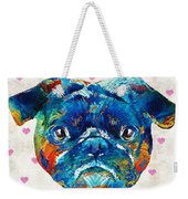 Pug Love Dog Art By Sharon Cummings Weekender Tote Bag