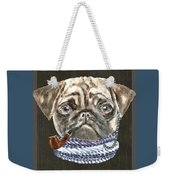 Pug Monacle Scarf Pipe Dogs In Clothes Weekender Tote Bag