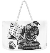 Pug Ruth  Weekender Tote Bag by Peter Piatt