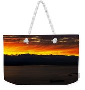 Puget Sound Olympic Mountains Sunset Weekender Tote Bag