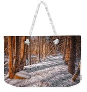 Pulled Into The Woods Weekender Tote Bag
