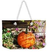 Pumpkin And Flowers Weekender Tote Bag