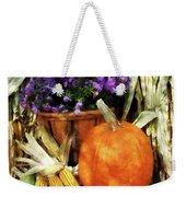Pumpkin Corn And Asters Weekender Tote Bag