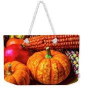 Pumpkin Corn Still Life Weekender Tote Bag