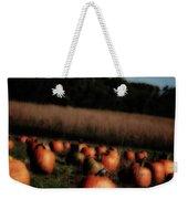 Pumpkin Field Shadows Weekender Tote Bag