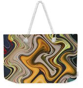Pumpkin On Fence Abstract # 6822 Wwt Weekender Tote Bag