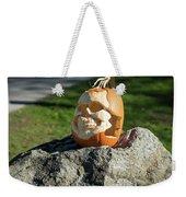 Pumpkin Skull Weekender Tote Bag