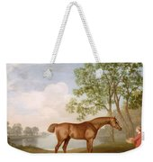 Pumpkin With A Stable-lad Weekender Tote Bag by George Stubbs