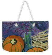 Pumpkins And Wheat Weekender Tote Bag by Erin Fickert-Rowland