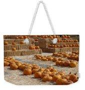 Pumpkins On Bales Weekender Tote Bag