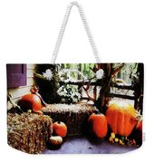 Pumpkins On Porch Weekender Tote Bag