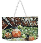 Pumpkins On Roof Weekender Tote Bag