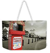 Punch And Judy Theatre On Llandudno Promenade Weekender Tote Bag
