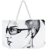 Punk Imaginative Portrait Drawing  Weekender Tote Bag