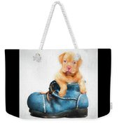 Pup In A Shoe Weekender Tote Bag
