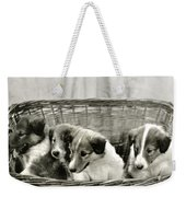 Puppies Of The Past Weekender Tote Bag