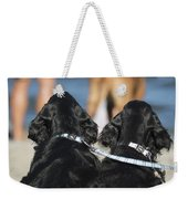Puppies On The Beach Weekender Tote Bag