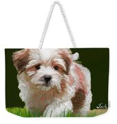 Puppy In High Grass Weekender Tote Bag