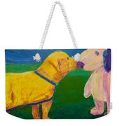 Puppy Say Hi Weekender Tote Bag