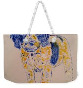 Puppy Stare Weekender Tote Bag