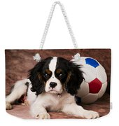 Puppy With Ball Weekender Tote Bag