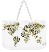 Purdue University Colors Swirl Map Of The World Atlas Weekender Tote Bag