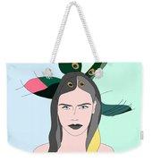 Pure Elixir- Beautiful Woman Portrait Minimalist Drawing Weekender Tote Bag