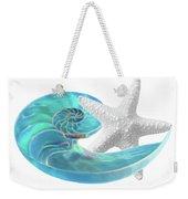 Pure Joy - Starfish With Nautilus Shell Weekender Tote Bag