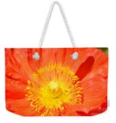 Pure Poppy Sunshine Weekender Tote Bag