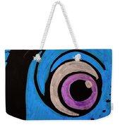 Purple And Blue Eyeball In Saint Augustine Florida Weekender Tote Bag