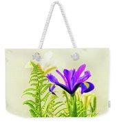 Purple And Blue Iris Weekender Tote Bag