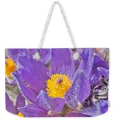 Purple And Gold - Bright Weekender Tote Bag