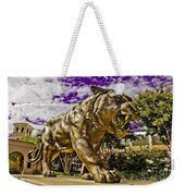Purple And Gold Weekender Tote Bag