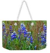 Purple And Grass Weekender Tote Bag