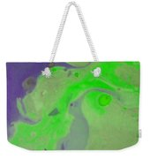 Purple And Green Weekender Tote Bag