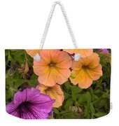 Purple And Peach Weekender Tote Bag