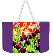 Purple And Peach Tulips 2 Weekender Tote Bag
