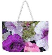 Purple And Pink Petunias Oil Painting Weekender Tote Bag